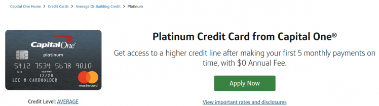 Capital One Platinum Credit Card Logo