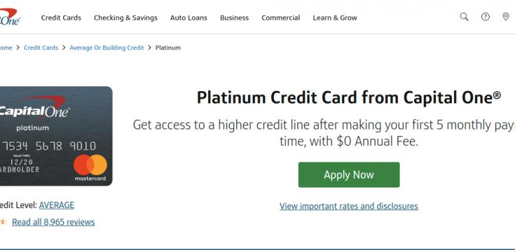 Capital One Platinum Credit Card Logo