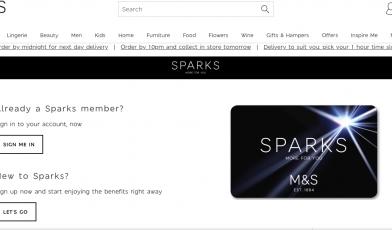 M S Sparks Loyalty Card Logo