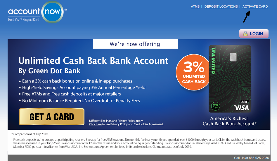 AccountNow Prepaid Credit Card Activate