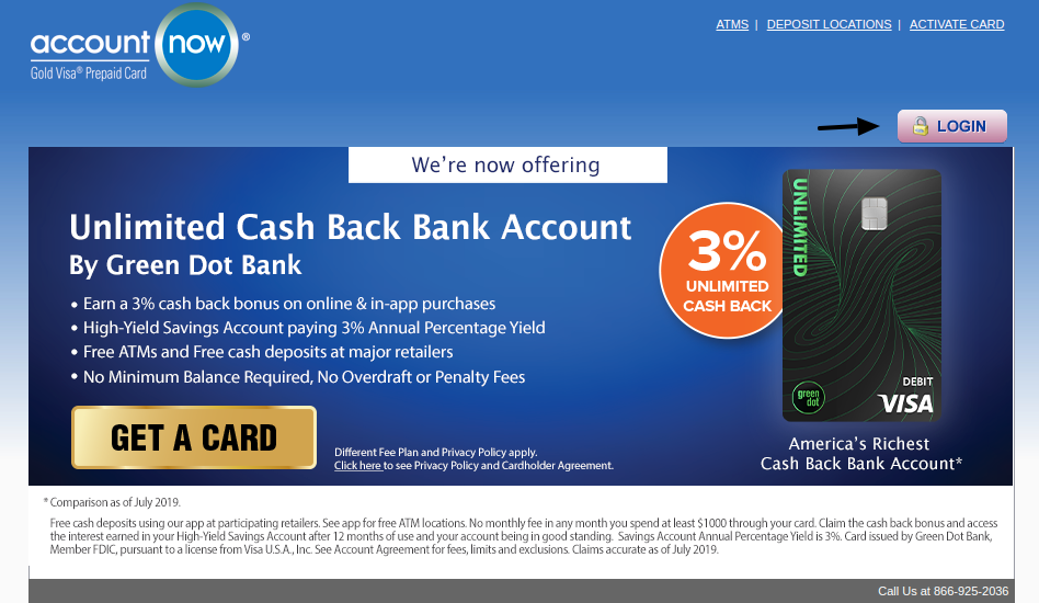 AccountNow Prepaid Credit Card Login