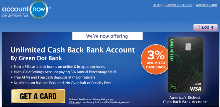 AccountNow Prepaid Credit Card Logo