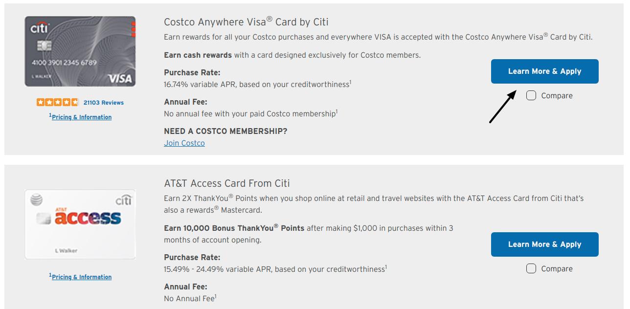 Costco Anywhere Visa Card Apply