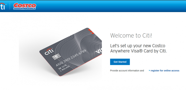 Costco Anywhere Visa Card Logo