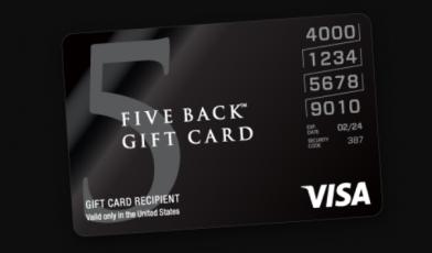 Five Back Visa Gift Card Logo