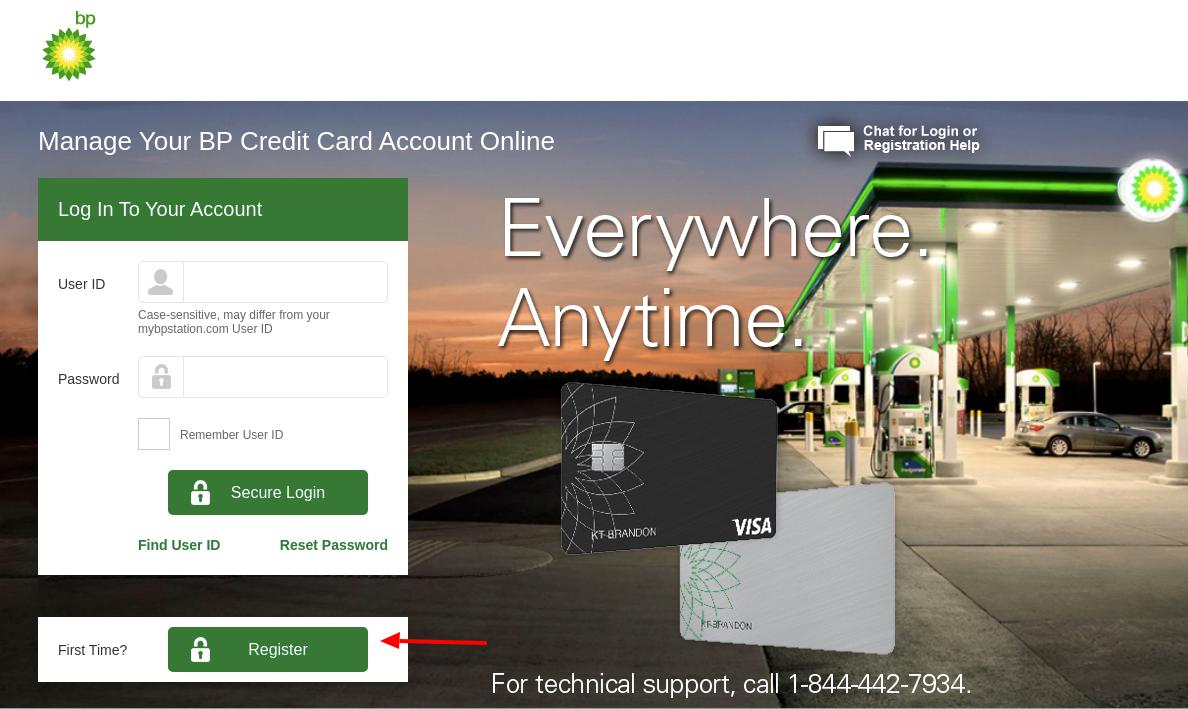 BP Credit Card Register