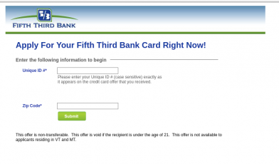 Fifty Third Bank Credit Card Apply