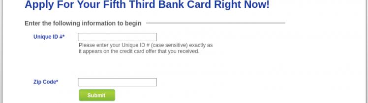 Fifty Third Bank Credit Card Apply