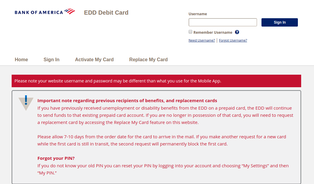 www.bankofamerica.com/eddcard - Access To Your Bank of America EDD