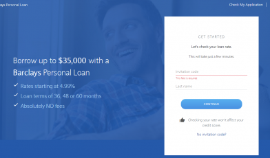 Barclays Personal Loan Apply