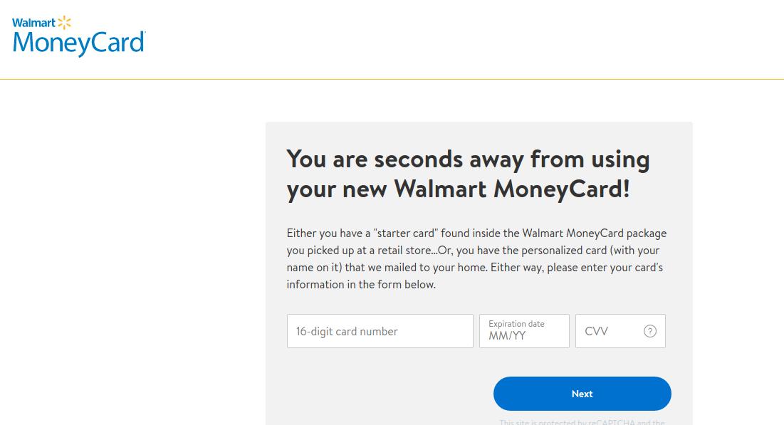Walmart MoneyCard Register