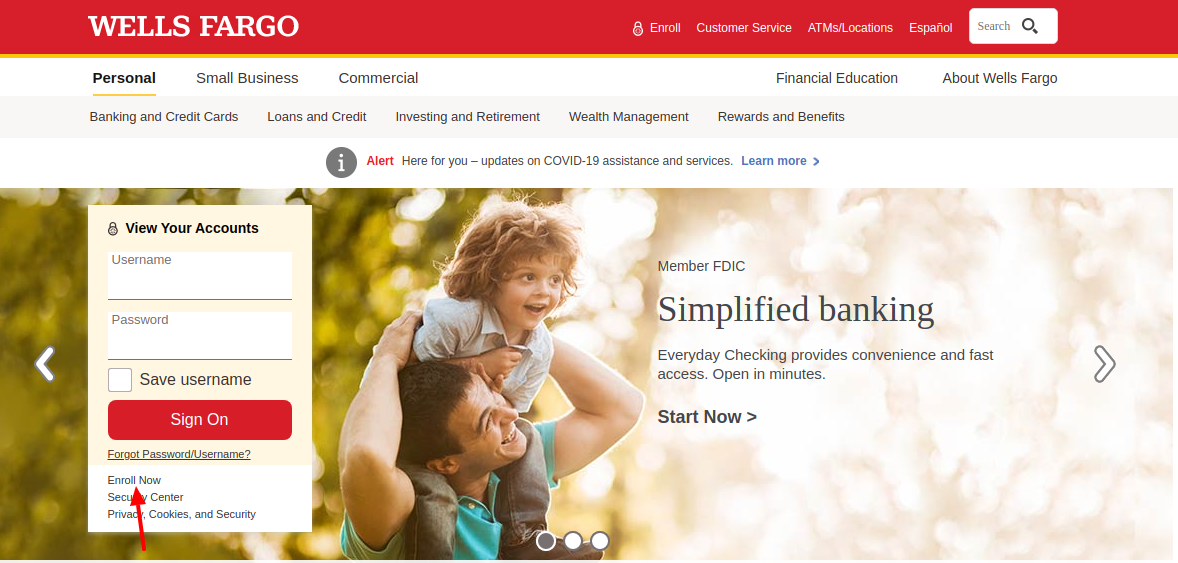 Wells Fargo Credit Card Enroll