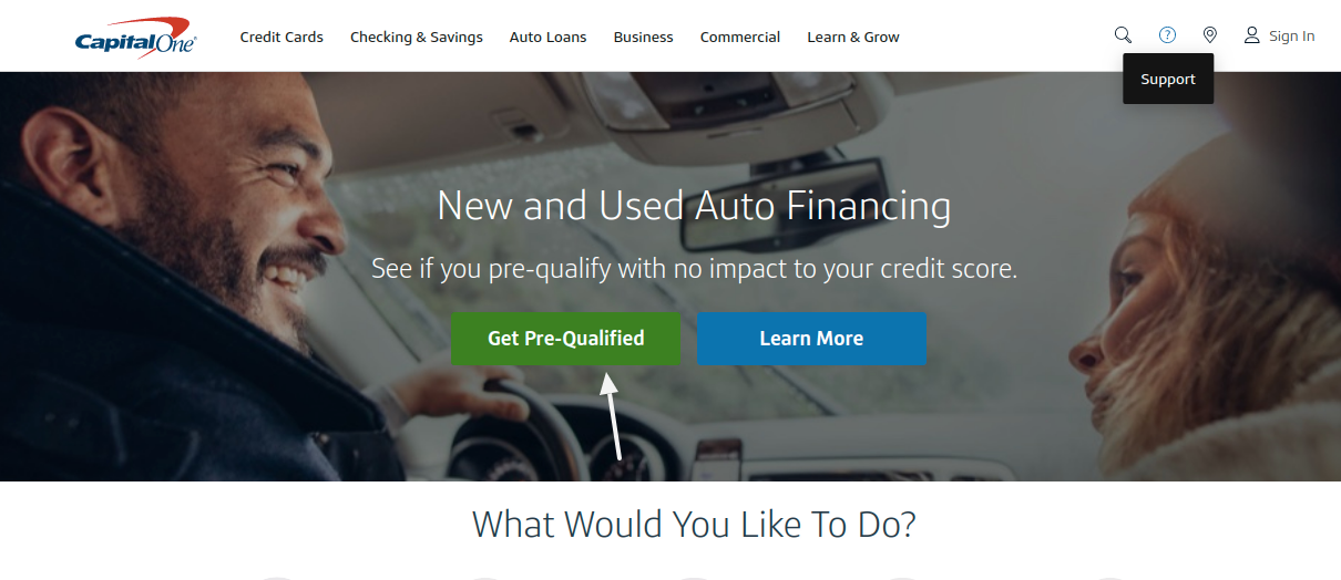 Capital One Get Pre Qulified