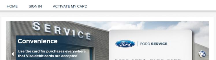 Ford Service Rebate Card Logo