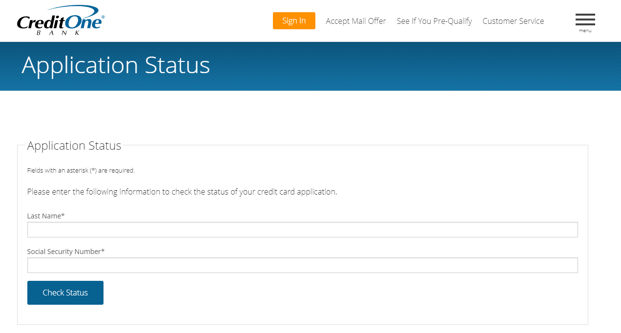 security bank online credit card application status