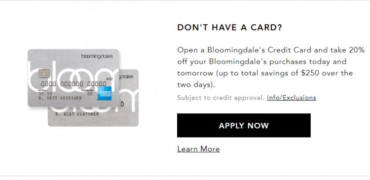 Bloomingdale's Credit Card Logo