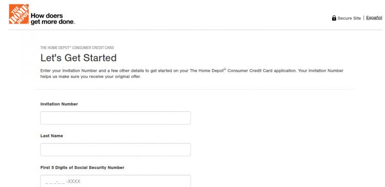 Home Depot Credit Card apply Logo