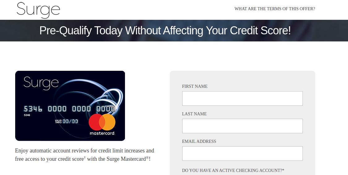 Surge Mastercard Pre-Qulify