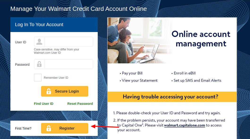 wwwwalmartstorecard  access to your walmart credit