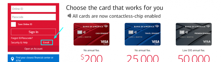 Bank of America Credit Card Activation proccess