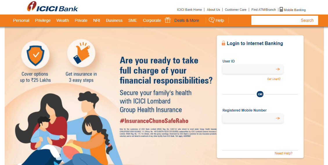 ICICI-Bank credit card activation