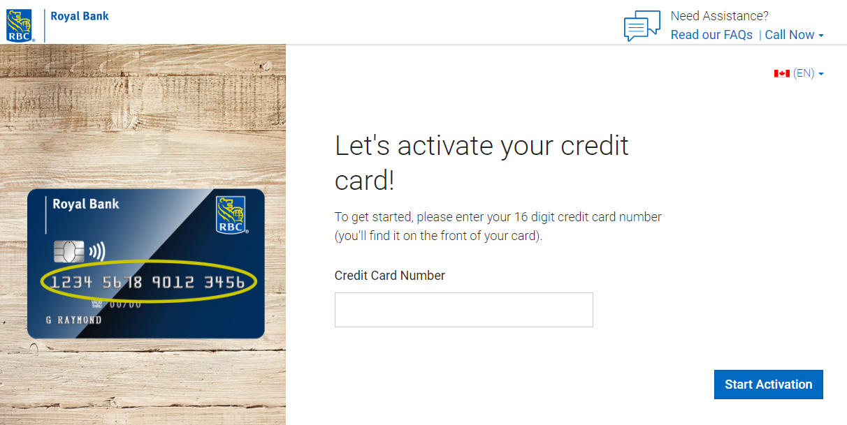 Detailed Process of RBC Credit Card Activation
