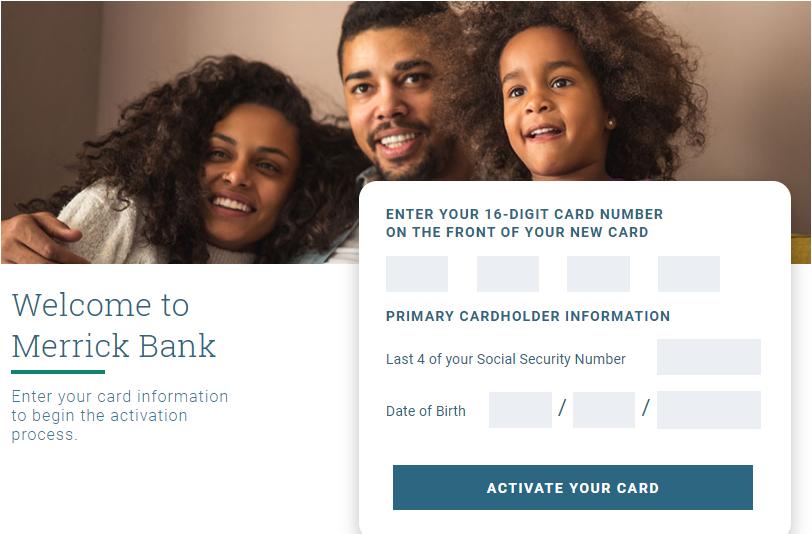 MerrickBank Card Activate