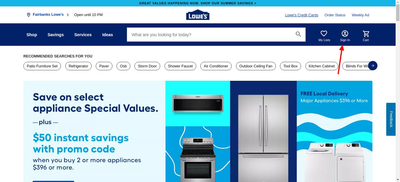lowes credit card login
