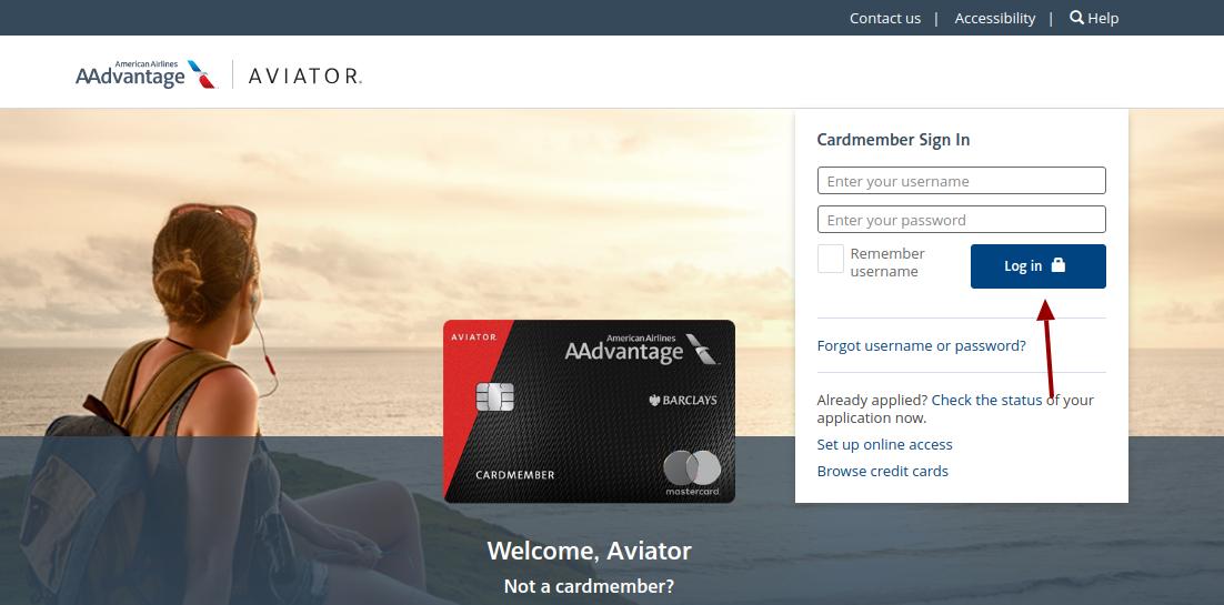 aviator mastercard login